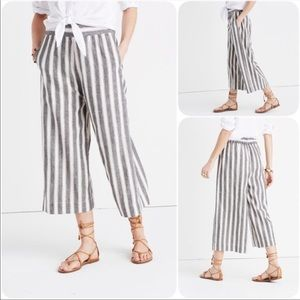 Madewell Huston Wide-leg Striped Pants